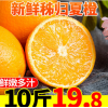 湖北秭归夏橙新鲜橙子10斤水果当季农家应季整箱手剥橙果冻甜橙子